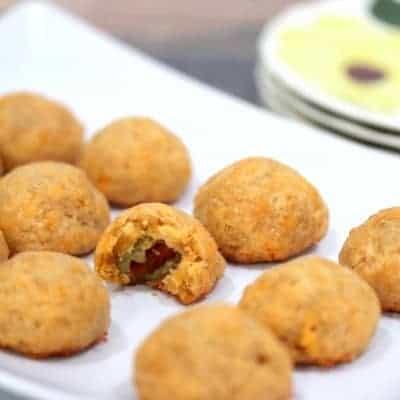 Cheddar Olive Bites