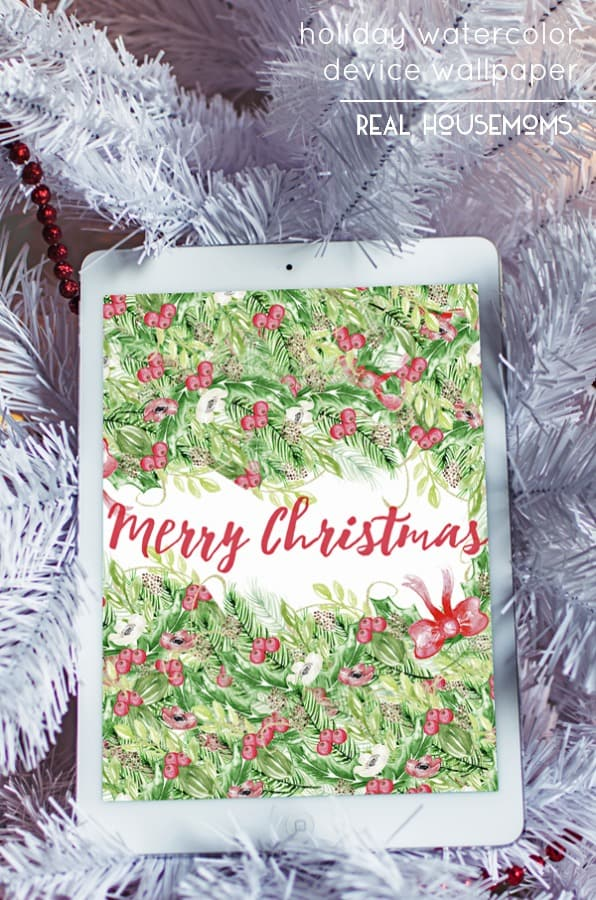 This HOLIDAY WATERCOLOR DEVICE WALLPAPER is perfect for your iPhone, iPad, or desktop. Why do the holiday decorations have to stop with your home? Have some fun with digital decor, too!