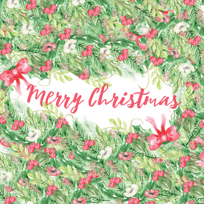 Holiday Watercolor Device Wallpaper (for iPhone, iPad, and desktops)