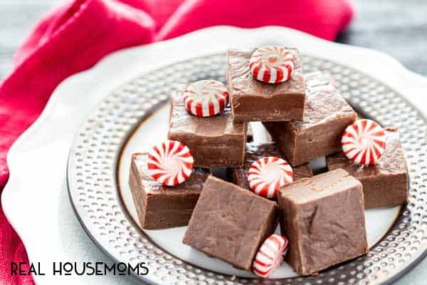 3 INGREDIENT PEPPERMINT FUDGE is a holiday classic. Easy to make and everyone devours it!
