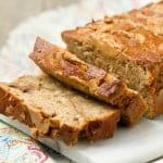 Peanut Butter White Chocolate Chip Banana Bread