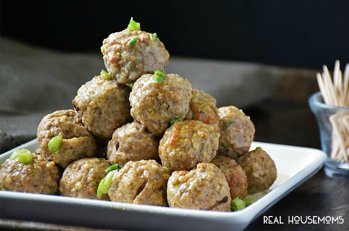 SLOW COOKER SWEDISH MEATBALLS are an easy to make bite drenched in a deliciously creamy sauce. They're a must have appetizer at your next party!