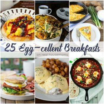 These 25 EGG-CELLENT BREAKFASTS are a protein packed way to start your day! No matter how you like your eggs, we have a recipe that's sure to fill you up and help you start the day off right.