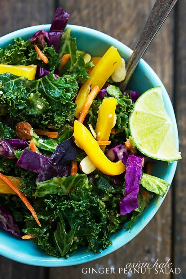 Asian Kale Ginger Peanut Salad - The Recipe Critic