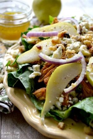 BBQ Chicken, Pear & Gorgonzola Salad 6