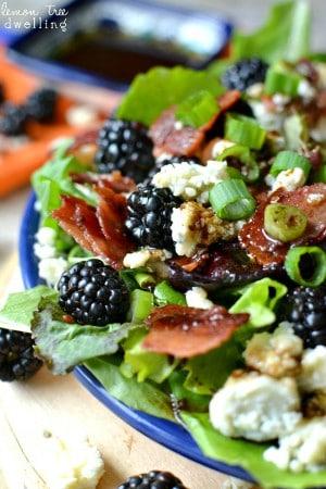 Bacon, Blackberry & Blue Cheese Salad