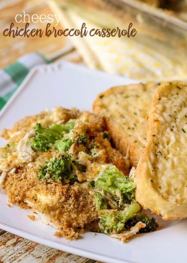 Cheesy Chicken Broccoli Casserole - Lil' Luna