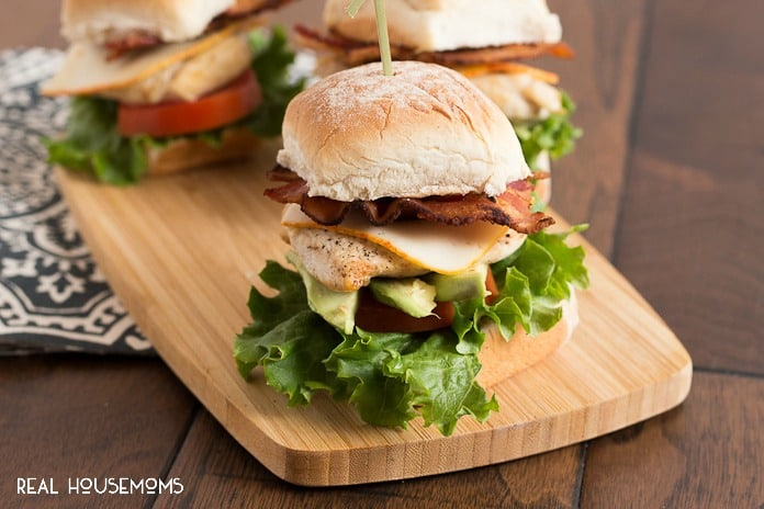 CHICKEN CLUB SLIDERS are the perfect appetizer for game day or a fun dinner to change things up!