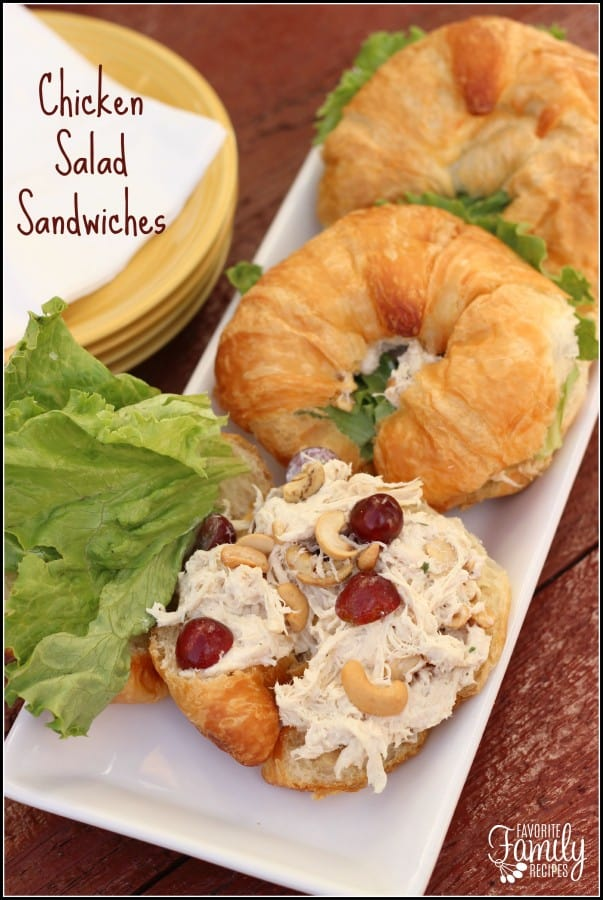 Chicken Salad Sandwiches - Favorite Family Recipes