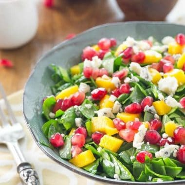 Chopped Spinach Pomegranate Salad