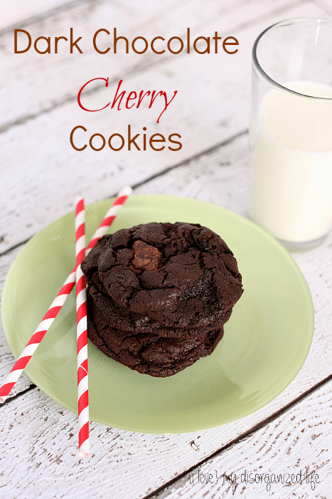 Dark Chocolate Cherry Cookies - {i love} my disorganized life