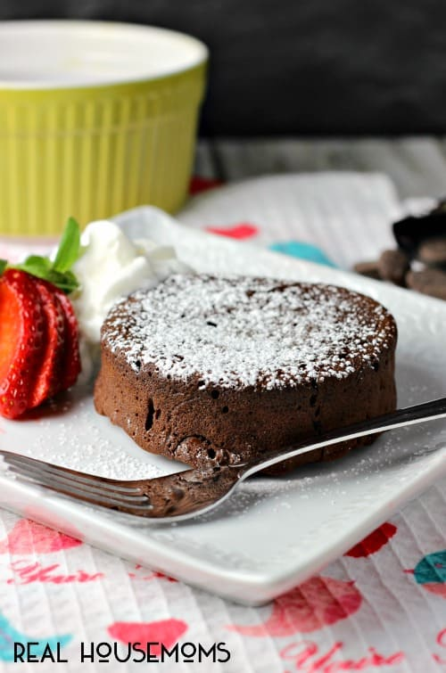 EASY CHOCOLATE LAVA CAKE is an elegant dessert idea that's easier to make than you might think!