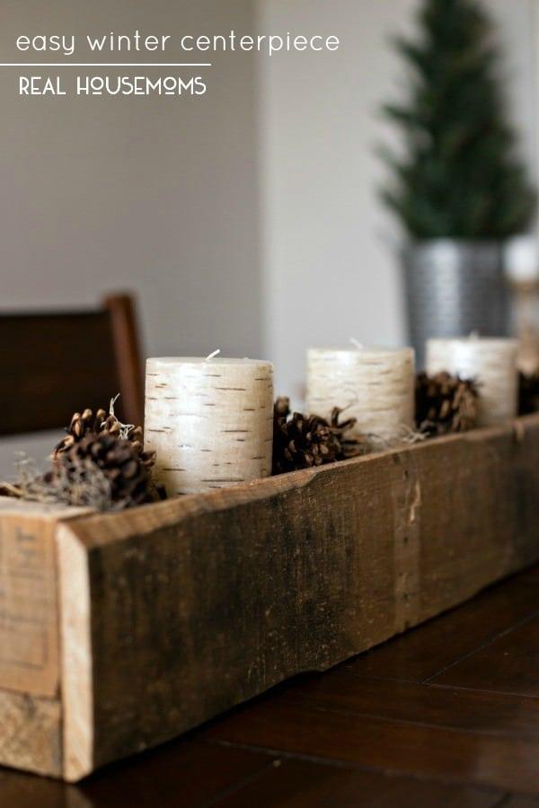 Easy winter centerpiece ⋆ real housemoms