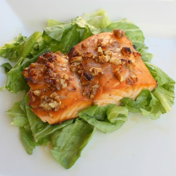 Honey and Pecan Glazed Salmon - The Girl Who Ate Everything
