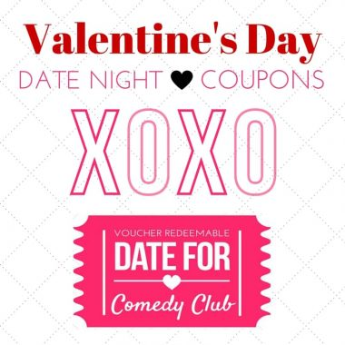 Valentine's Date Night Idea Printable Coupons