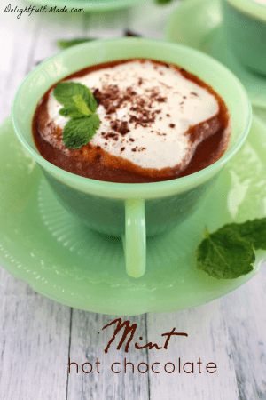 Mint Hot Chocolate by Delightful E Made