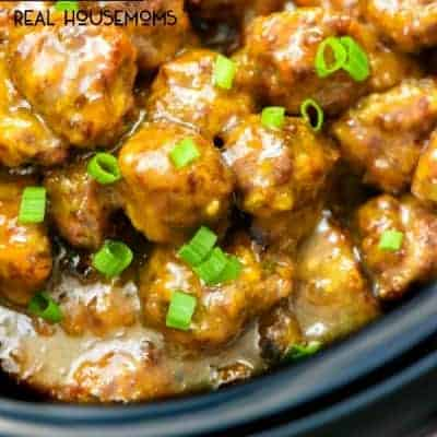 Peach Riesling Glazed Meatballs