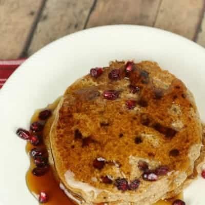 Pomegranate Whole Wheat Pancakes