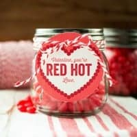 If you're a fan of homemade Valentines, look no further than these easy and adorable RED HOTS VALENTINES!