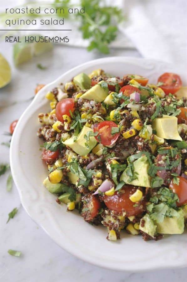 Roasted Corn and Quinoa Salad - Real Housemoms