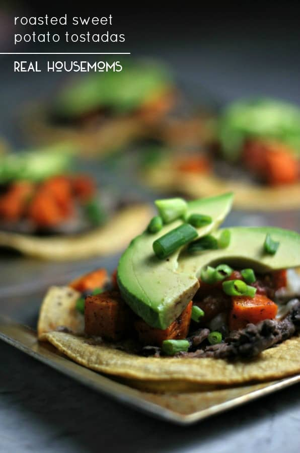 Roasted Sweet Potato Tostadas - Real Housemoms