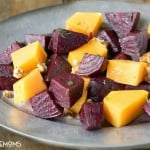 ROASTED HONEY GINGER BEETS AND WINTER SQUASH are simple roasted vegetables with a to die for dressing! Everything in this dish is good for you and there's no skimping on flavor!
