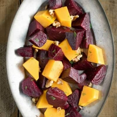 Roasted Honey Ginger Beets and Winter Squash