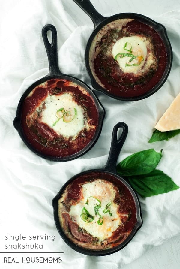 This SINGLE SERVING SHAKSHUKA is the perfect meal when you're eating for one, and is ready to eat in less than 20 minutes!
