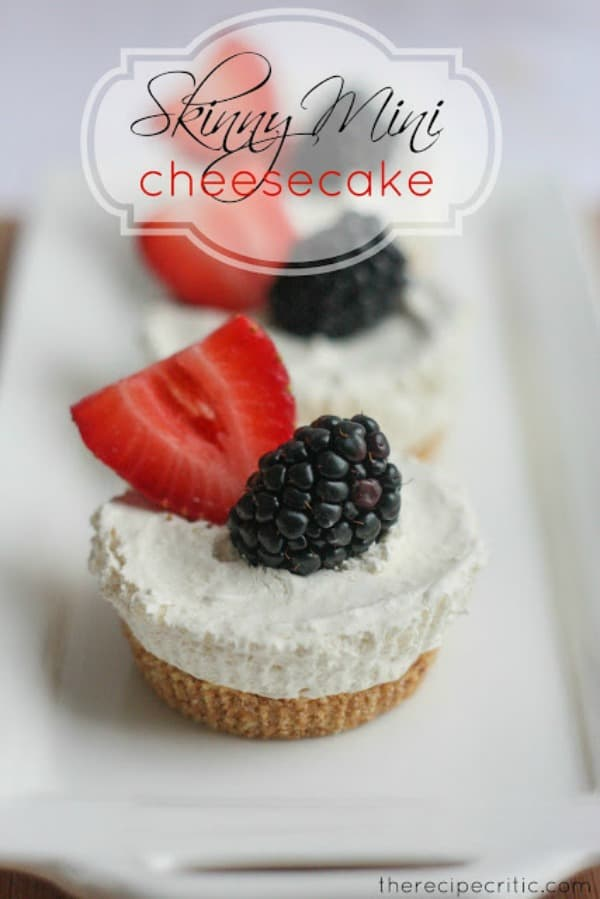 Skinny Mini Cheesecake - The Recipe Critic