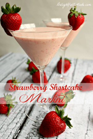 Strawberry Shortcake Martini by Delightful E Made