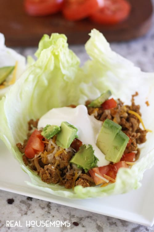 TACO LETTUCE WRAPS are a healthier way to eat your favorite food!