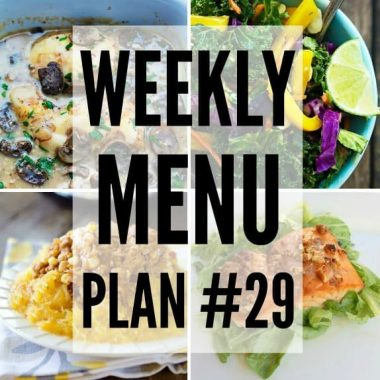 Weekly Menu Plan #29