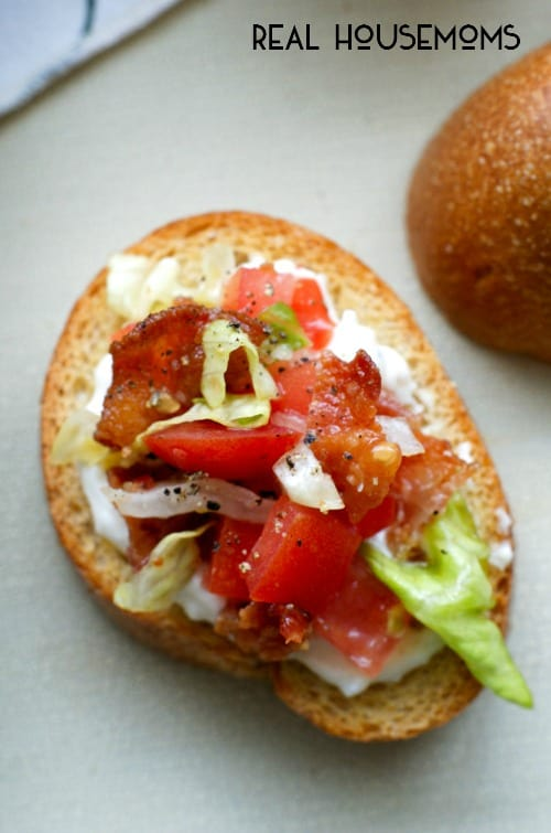 BLT BRUSCHETTA transforms everyone's favorite classic sandwich into an easy to make appetizer that is light enough for brunch and elegant enough for a dinner party!