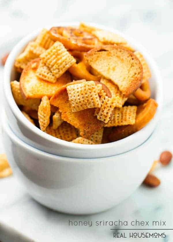 Sweet and spicy HONEY SRIRACHA CHEX MIX makes the perfect game time, movie night, or any time snack. Crunchy and full of flavor, this mix is always a hit!