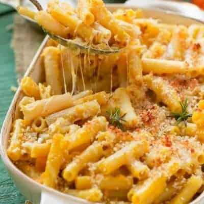 Lighter Cheesy Pasta Bake