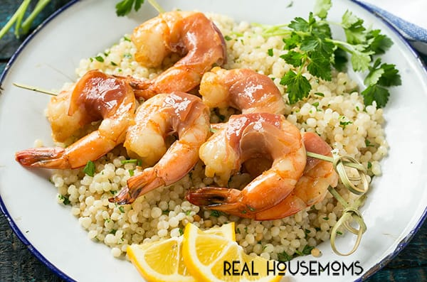 Our PROSCIUTTO WRAPPED SHRIMP WITH LEMON COUSCOUS is an elegant yet easy meal that's fit for a special occasion - it only has a few ingredients and is ready in 30 minutes