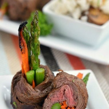 These BALSAMIC STEAK ROLL UPS are easy to make but look so fancy no one will ever guess how simple they are!
