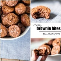 Classic Chewy Brownie Bites are always the right decision! This is a simple dessert recipe that you've got to keep on hand!