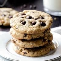 SECRET INGREDIENT CHOCOLATE CHIP COOKIES are mega soft and chewy and just waiting to become one of your new favorite cookies!