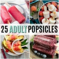 vertical collage of alcoholic popsicles