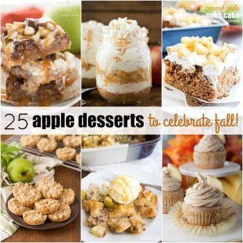Indulge in the bounty of the season with these 25 APPLE DESSERTS TO CELEBRATE FALL! We've rounded up everything from cakes to pies to satisfy your sweet tooth!