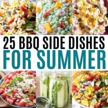 square collage of bbq side dish recipes with text