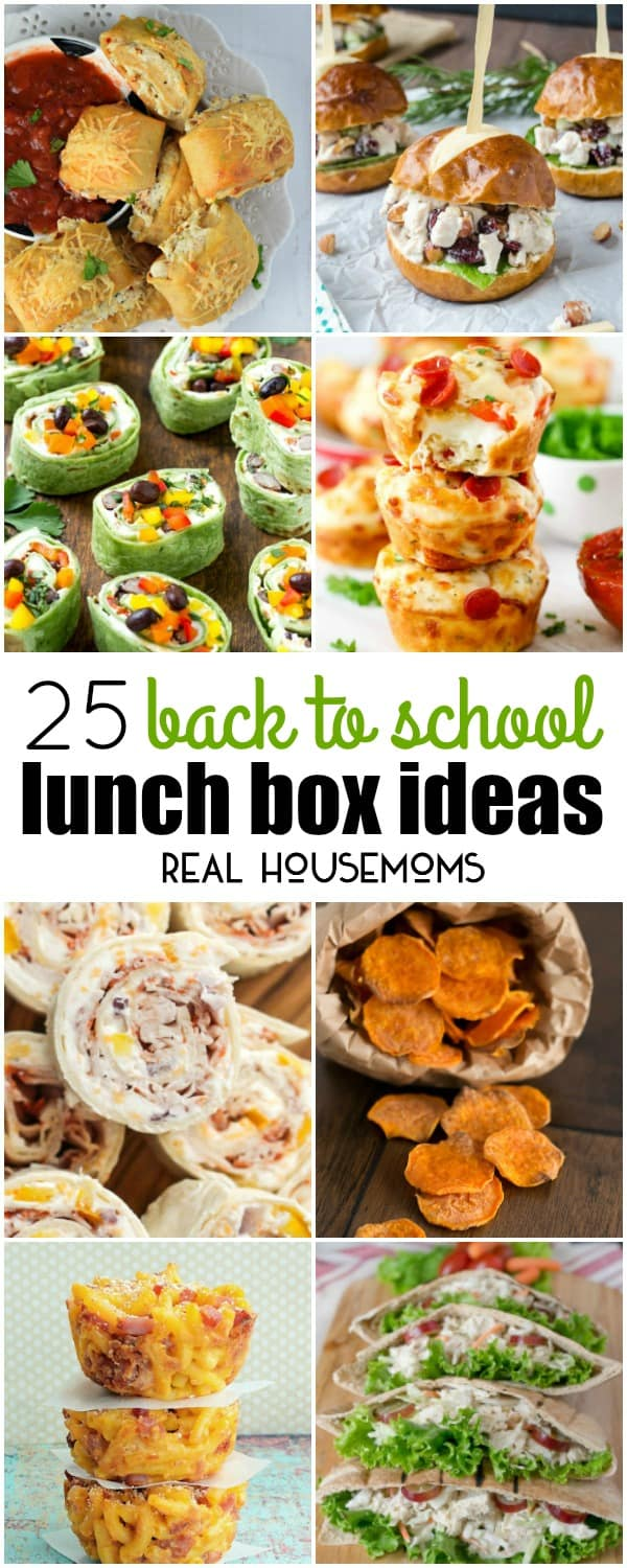 Vertical Collage For Back To School Lunch Ideas