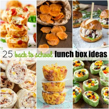 Make the morning rush a little easier with 25 Back to School Lunch Ideas! They're easy to make, kids love 'em & you can feel good about what you packed up!