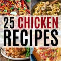 vertical collage of chicken recipes from Real Housemoms
