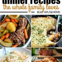 These 25 Comforting Dinner Recipes the Whole Family Loves are the perfect way to get bring everyone together for a fantastic meal!