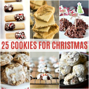 'Tis the season for holiday baking!  Get inspired by these 25 Cookies for Christmas that are sure to be a hit with all your friends and family!