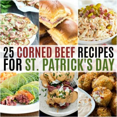 Love corned beef on St. Patrick's Day? Try it in a new dish or use up those leftovers every meal of the day with these tasty 25 Corned Beef Recipes!