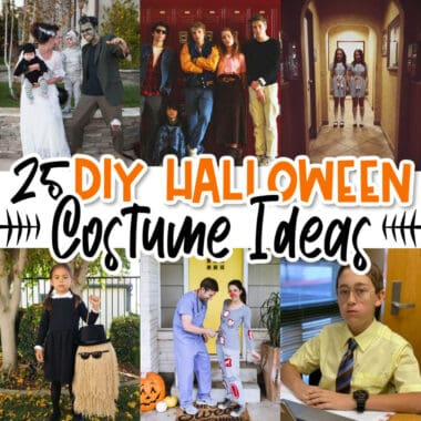 square collage of diy halloween costumes & ideas with text