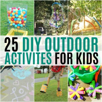 With the weather warming up, it's the perfect time to start making summer plans for outdoor fun. Get creative with these 25 DIY Outdoor Activities for Kids!
